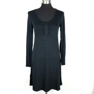 Carve Designs Long Sleeve Black Jersey Dress XS